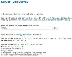 How to find the Web Server that a web site runs on 1