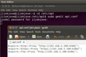 Internet access problem in Terminal using proxy server network connection 2
