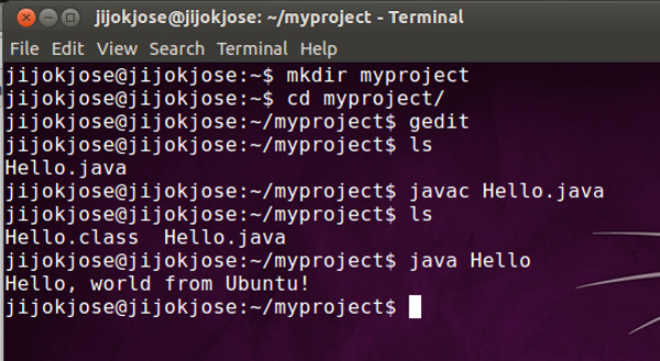 Compile and Run a Hello-world Java Program