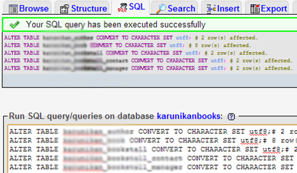 How to change mysql database- table collation