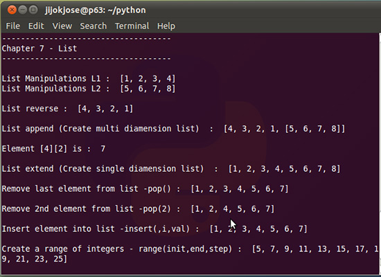 python-list-opearion-7